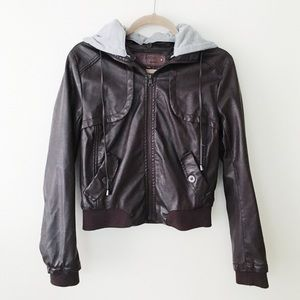 Jackets & Blazers - moto jacket with hoodie
